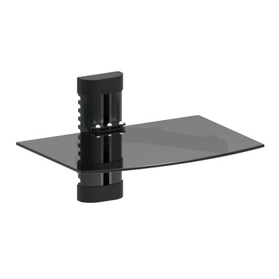 GForce DVD Player Shelf Wall Mount with Tempered Glass and Aluminum GF-P1124-1137