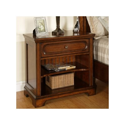 Easy furniture financing Breton Square 1 Drawer Nightstand...