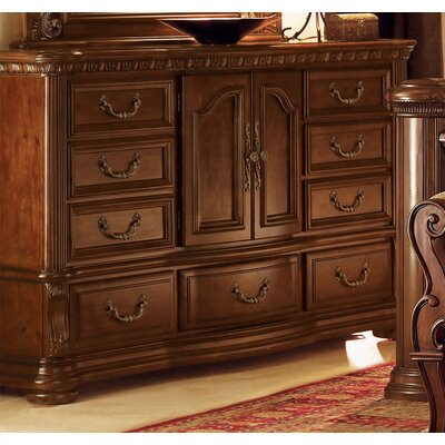 No credit financing Granada 9 Drawer Combo Dresser...