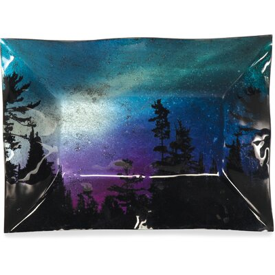 "Northern Lights Rectangle Plate Size: 7.5"" H X 10"" W X 1"" D"