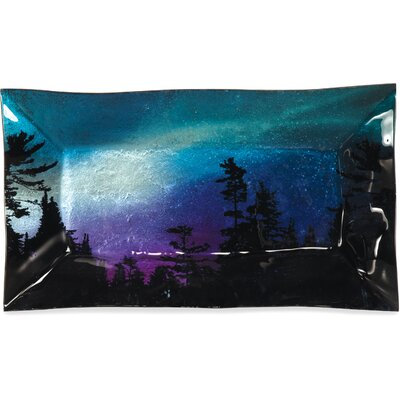 "Northern Lights Rectangle Plate Size: 8"" H X 14"" W X 2"" D"