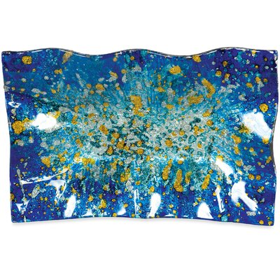 "Ocean Rectangle Plate (set Of 3) Size: 6.5"" H X 10"" W X 1.5"" D"