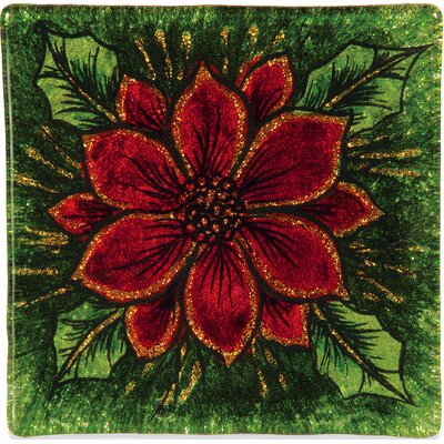 Poinsettia Christmas Coaster (Set of 2) 19124