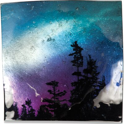 "Northern Lights Square Plate (set Of 3) Size: 7.5"" H X 7.5"" W"