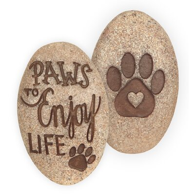Paw To Enjoy Life Pawsitive Decorative Stone (set Of 4)