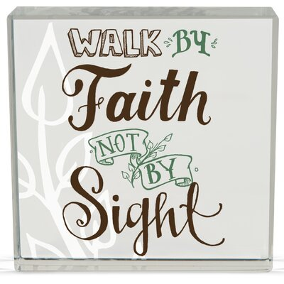 Faith Rachel Anne Textual Art Plaque (Set of 2) 74182