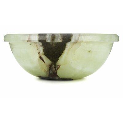Green Oyster Onyx Translucent Luxury Circular Vessel Bathroom Sink