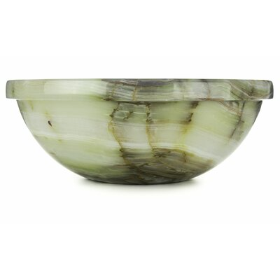 Green Oyster Onyx Translucent Luxury Circular Vessel Bathroom Sink