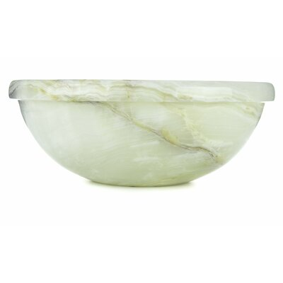 Vanilla Onyx Translucent Luxury Circular Vessel Bathroom Sink