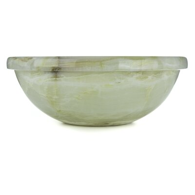 Vanilla Onyx Translucent Luxury Circular Vessel Bathroom Sink