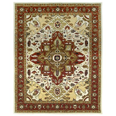 Heriz Hand-Tufted Sand/Clay Area Rug Rug Size: Square 12'