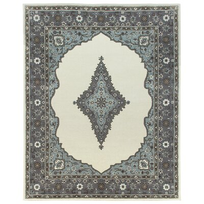 Bidjar Hand-Tufted Sand/Pearl Area Rug Rug Size: Square 6