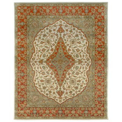 Bidjar Hand-Tufted Sand/Terracotta Area Rug Rug Size: 96 x 136