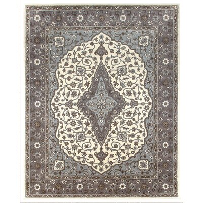 Bidjar Hand-Tufted Sand/Pearl Area Rug Rug Size: Square 12