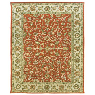 Ziegler Hand-Tufted Terracotta/Sand Area Rug Rug Size: 8 x 10