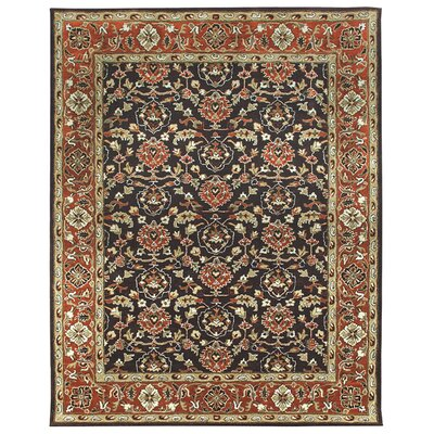 Meshed Hand-Tufted Chocolate Area Rug Rug Size: Square 12