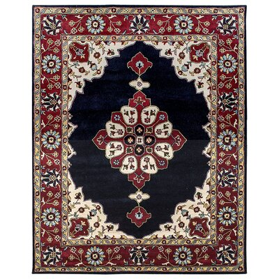 Mogul Hand-Tufted Blue/Red Area Rug Rug Size: Square 6