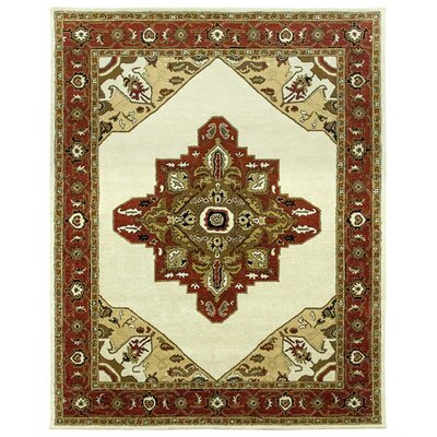 Heriz Hand-Tufted Sand/Clay Area Rug Rug Size: Square 12