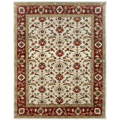 Meshed Hand-Tufted Sand/Clay Area Rug Rug Size: Round 12