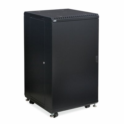 Linier Solid and Solid Doors Server Cabinet Size: 22U