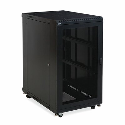 Linier Vented and Vented Doors Server Cabinet Size: 22U