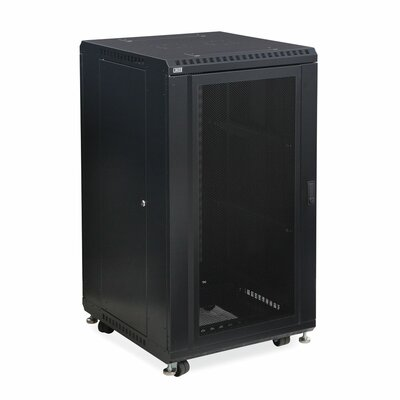 Linier Convex and Glass Doors Server Cabinet Size: 22U