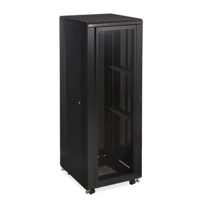 Linier Convex and Glass Doors Server Cabinet Size: 37U