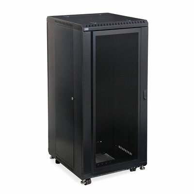 Linier Convex and Glass Doors Server Cabinet Size: 27U