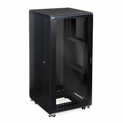 Linier Glass and Vented Doors Server Cabinet Size: 27U