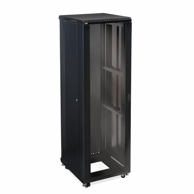 Linier Glass and Vented Doors Server Cabinet Size: 42U