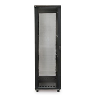 Linier Glass and Solid Doors Server Cabinet Size: 42U