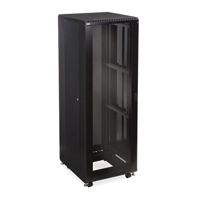 Linier Glass and Vented Doors Server Cabinet Size: 37U