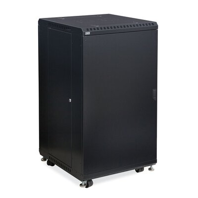 Linier Solid and Convex Doors Server Cabinet Size: 22U