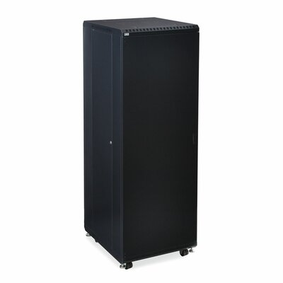 Linier Solid and Convex Doors Server Cabinet Size: 37U