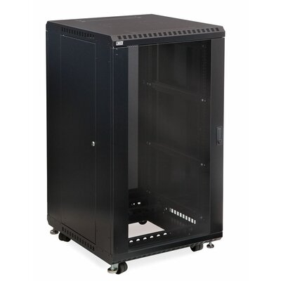 Linier Glass and Glass Doors Server Cabinet Size: 22U