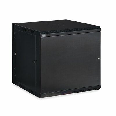 Linier Solid Door Swing-Out Wall Mount Cabinet Size: 12U
