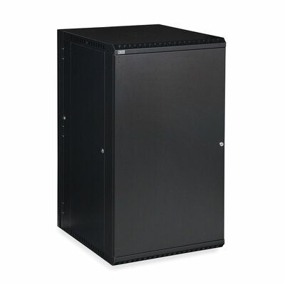 Linier Solid Door Swing-Out Wall Mount Cabinet Size: 22U