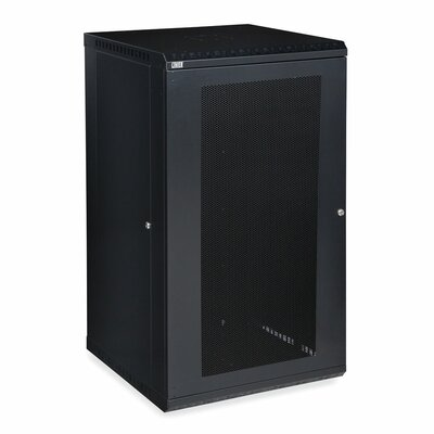 Linier Vented Door Fixed Wall Mount Cabinet Size: 22U