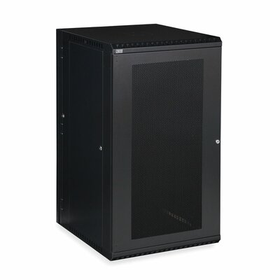 Linier Vented Door Swing-Out Wall Mount Cabinet Size: 22U