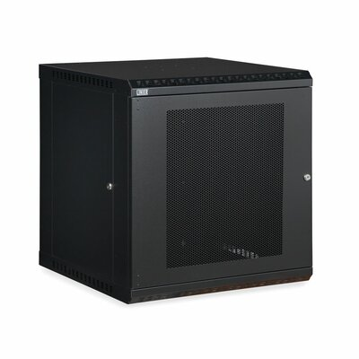 Linier Vented Door Fixed Wall Mount Cabinet Size: 12U