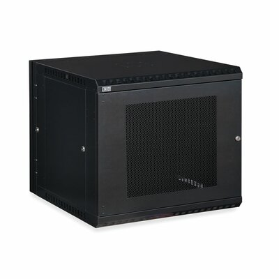 Linier Vented Door Swing-Out Wall Mount Cabinet Size: 12U