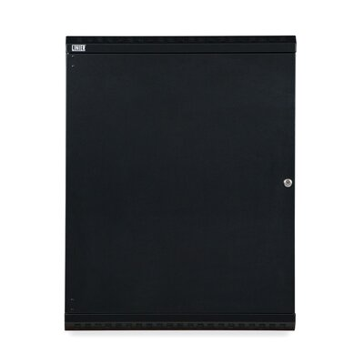 Linier Solid Door Fixed Wall Mount Cabinet Size: 15U