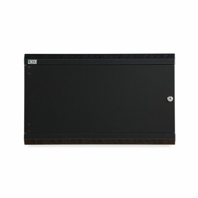Linier Solid Door Fixed Wall Mount Cabinet Size: 6U