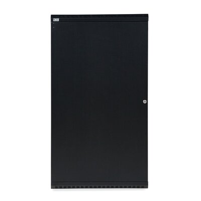 Linier Solid Door Fixed Wall Mount Cabinet Size: 22U