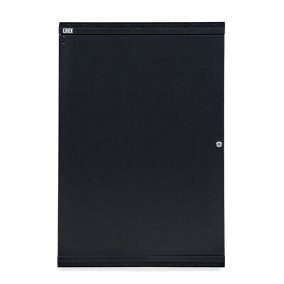 Linier Solid Door Fixed Wall Mount Cabinet Size: 18U