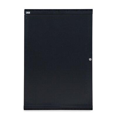 Linier Solid Door Fixed Wall Mount Cabinet Size: 18U