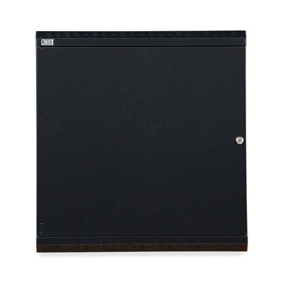 Linier Solid Door Fixed Wall Mount Cabinet Size: 12U