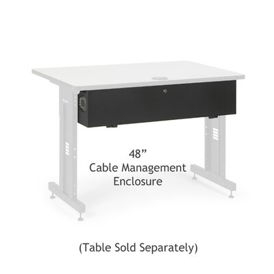 Advanced Classroom Training Table Cable Management Enclosure Size: 48 inch