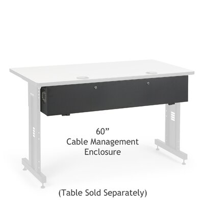 Advanced Classroom Training Table Cable Management Enclosure Size: 60 inch