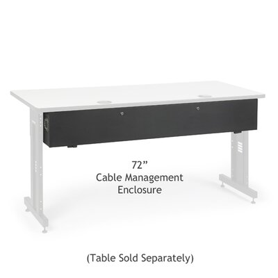 Advanced Classroom Training Table Cable Management Enclosure Size: 72 inch